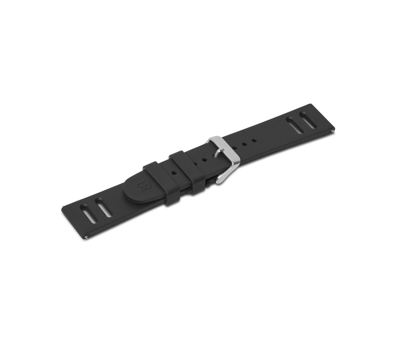 Black rubber strap with buckle-005766